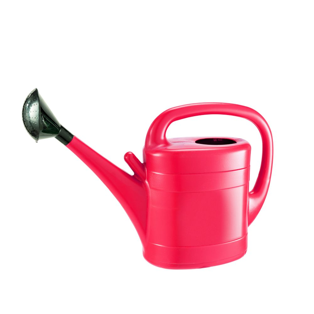 10ltr Plastic Watering Can Red