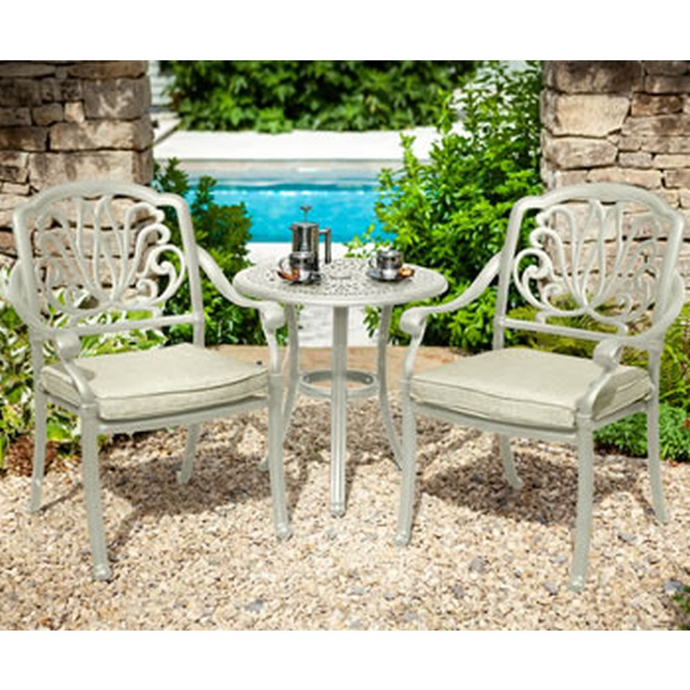 Amalfi Bistro Set With 2 Chairs & Cushions