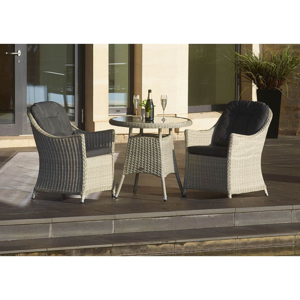 Monterey 80cm Bistro Table with 2 Armchairs