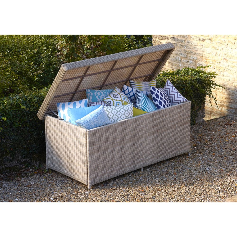 Bramblecrest Monterey Large Cushion Box with Liner - Sandstone