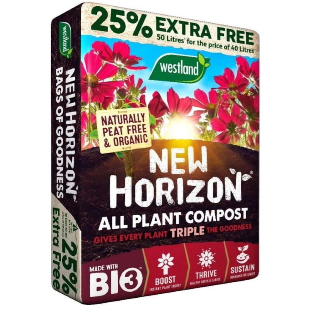 New Horizon Peat Free 25% Flash